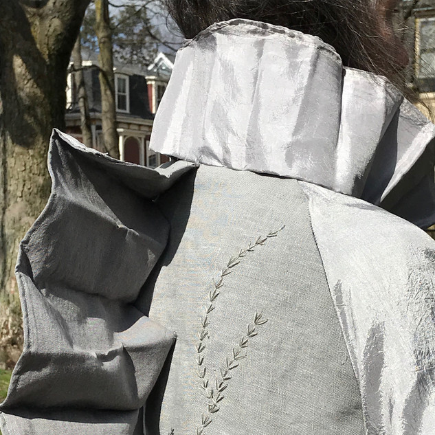 Invisibility Cloak, Back and Collar Detail