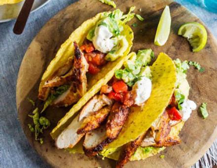 Light Chicken Tacos