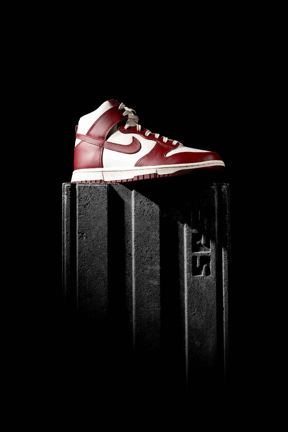 Nike Dunk High Sail Team Red
