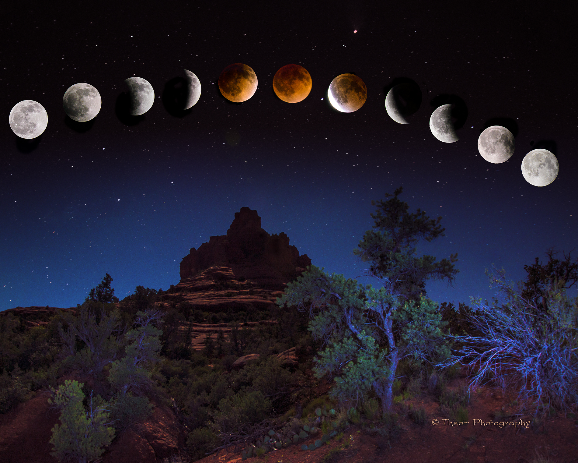 _Lunar EclipseTDA0073_1031 Sky Bell composite w eclipsed moon 4-15-14  8x10 R3