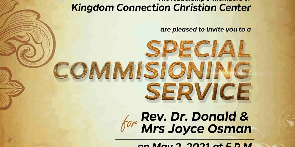 Special Commissioning Service