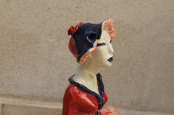Profil Femme au chapeau bleu