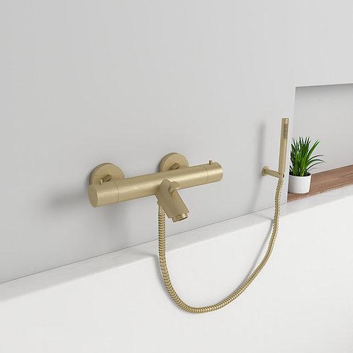 Mahale opbouw badkraan thermostaat set mat goud
