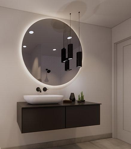Ronde spiegel 120cm met dimbare indirecte verlichting