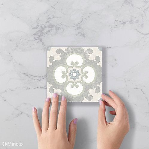 Beige pastel patroon 15 x 15 wandtegels / vloertegels