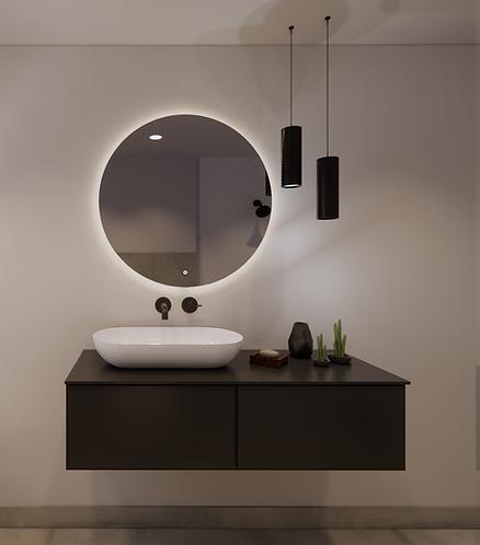 Ronde spiegel 80cm met indirecte verlichting