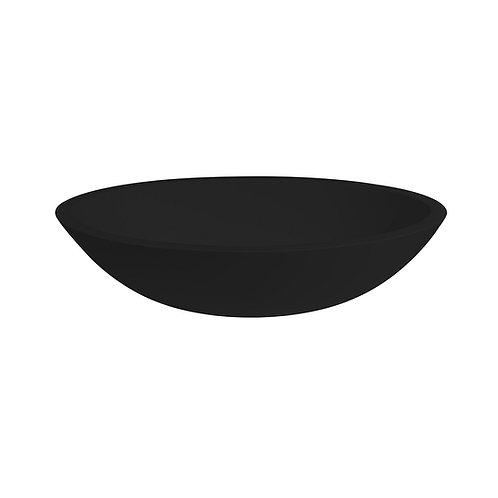 Waskom 52 x 38 x 14 cm zwart solid surface