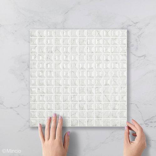 Grijze marmer 3D glasmozaïek 25 x 25 mm tegels