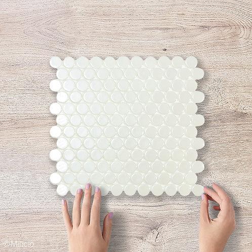 Witte cirkel 25cx25c mm glasmozïek tegels