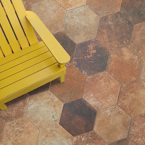 Marron hexagon 20x24 vloer- en wandtegel