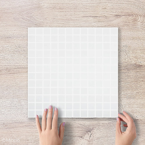 Mat witte vierkante glasmozaïek 25 x 25 mm tegels