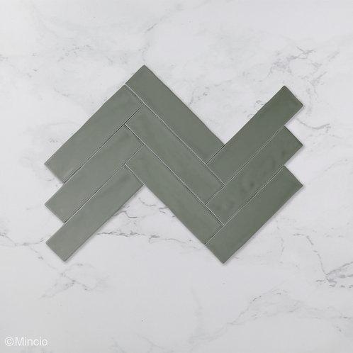 Handvorm metrotegels olijf mat groene 7.5x30 visgraat wandtegels