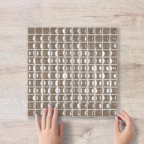 Coffee bruine vierkante glasmozaïek 25 x 25 mm tegels