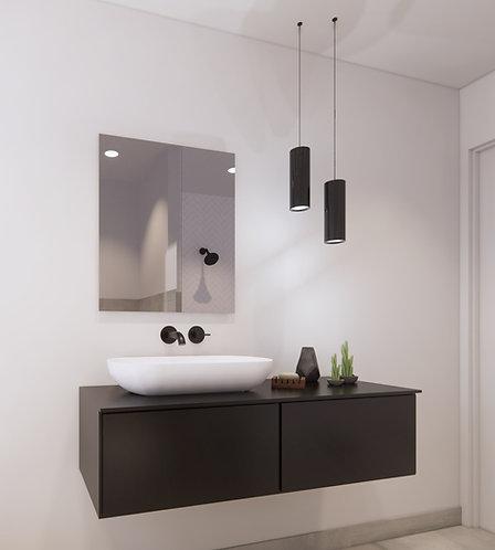 Spiegel rechthoek zonder rand op geborsteld aluminium frame 60x70 cm