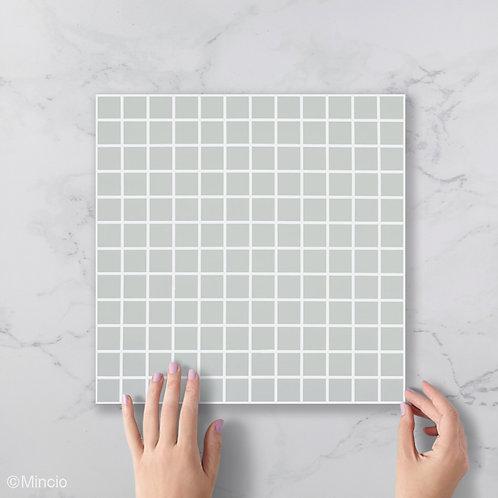 Mat licht grijze Mat glasmozaïek 25 x 25 mm tegels