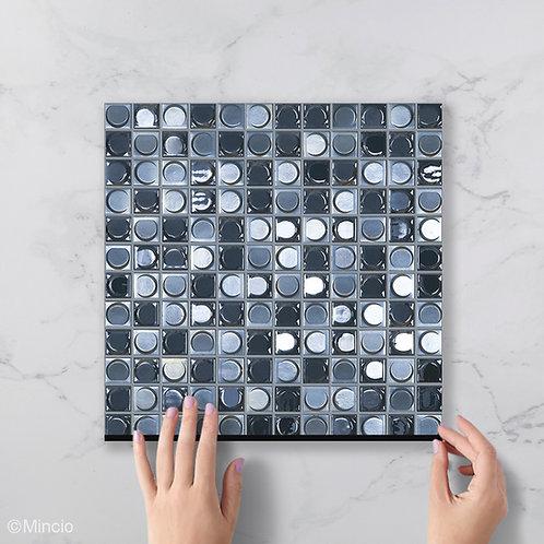 Donker grijze blend glasmozaïek 25 x 25 mm tegels