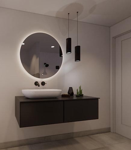 Ronde spiegel 80cm met dimbare indirecte verlichting