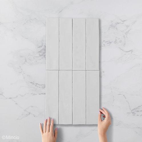 Handvorm metrotegels mat wit 7.5x30 visgraat wandtegels