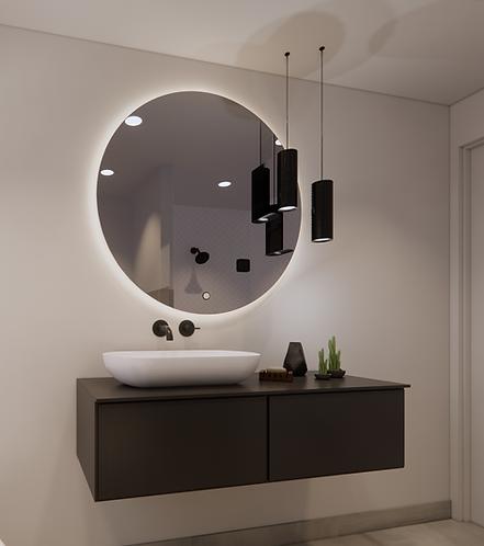 Ronde spiegel 100cm met indirecte verlichting