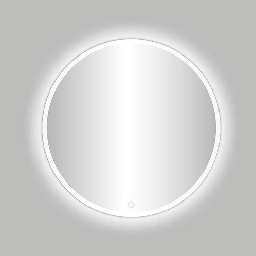 Ronde spiegel met mat wit rand incl. led verlichting 80 cm