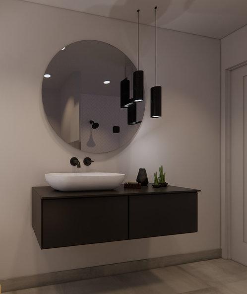 Ronde spiegel 100cm zonder verlichting