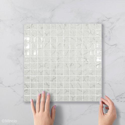 Grijs marmer vierkante glasmozaïek 25 x 25 mm tegels