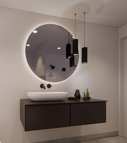 Ronde spiegel 100cm met dimbare indirecte verlichting