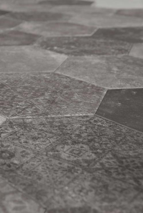 Grijze hexagon decor 20x24 vloer- en wandtegel