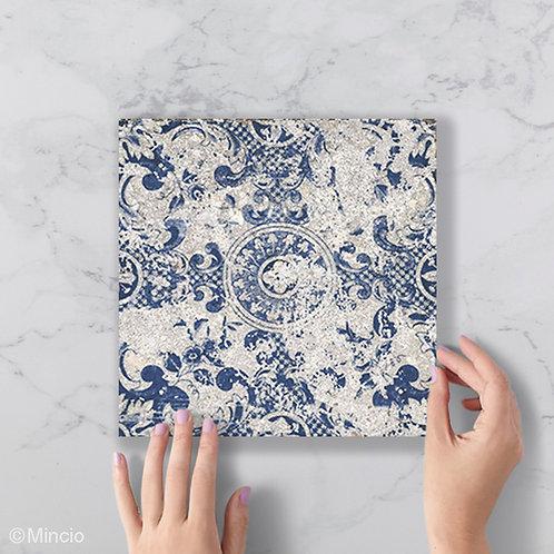 Blauwe sintra patroon tegels 20x20 wandtegels / vloertegels