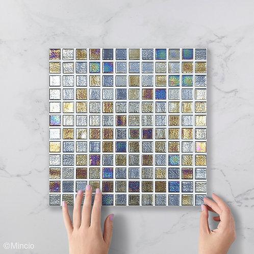 Diepe oceaan vierkante glasmozaïek 25 x 25 mm tegels