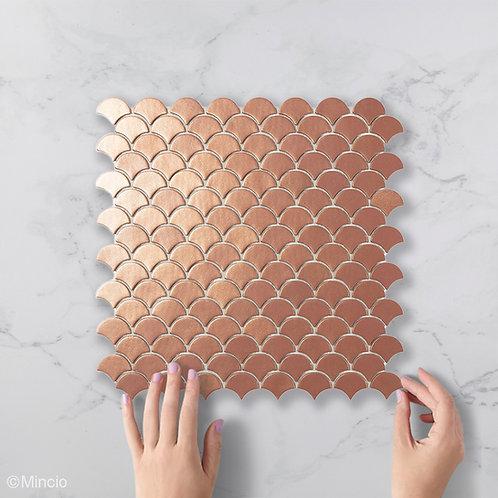 Magisch koper Visschub glasmozaïek 36 x 29 mm tegels