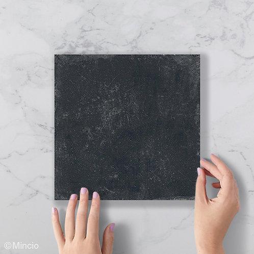 Uni zwarte robuuste tegels 20x20 wandtegels / vloertegels