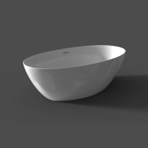 Ligbad vrijstaand wit 170 x 82 x 58 cm