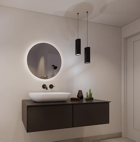 Ronde spiegel 60cm met indirecte verlichting