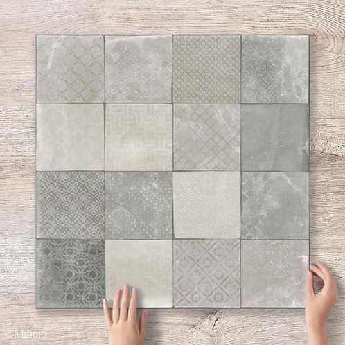 Besgri 60x60 keramische betonlook vloertegels / wandtegels grijs