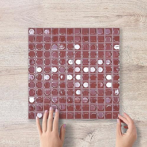 Zacht roze glasmozaïek 25 x 25 mm tegels
