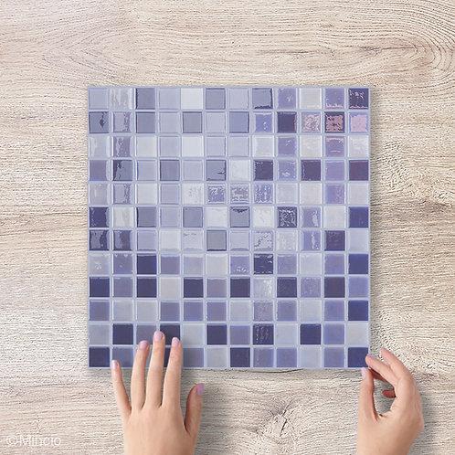 Lila vierkante glasmozaïek 25 x 25 mm tegels