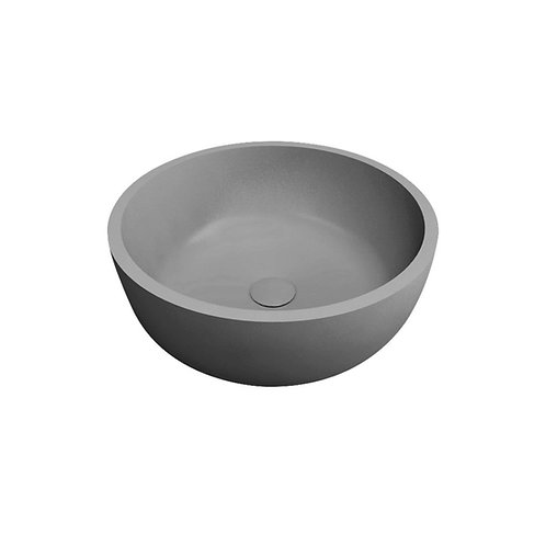 Waskom 42 x 42 x 15 cm rond lava grijs solid surface