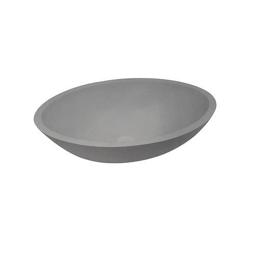 Waskom 52 x 38 x 14 cm lava grijs  solid surface