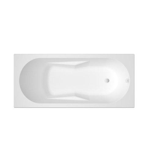 Bangioc inbouw acryl ligbad 170x75 cm met hele platte rand links incl. pootset