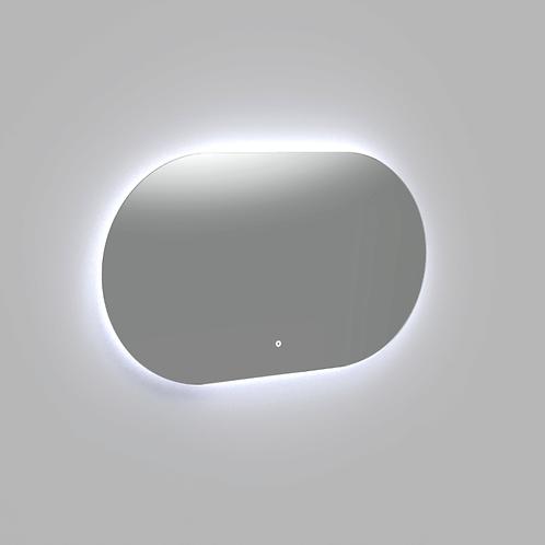 Spiegel ovaal met indirecte verlichting in drie horizontaal formaten