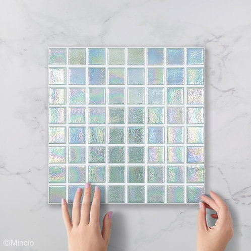 Kristal vierkante glasmozaïek 38 x 38 mm tegels