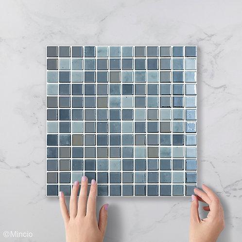 Nacht blauw vierkante glasmozaïek 25 x 25 mm tegels