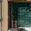 Thumbnail: Handvorm metrotegels mos groen 6.5x20 visgraat wandtegels