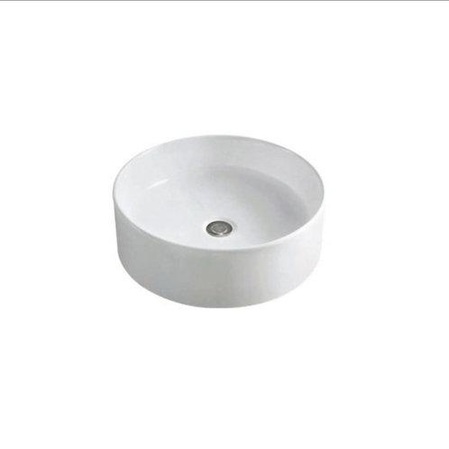 Waskom 41 x 41 x 15 cm rond glans-wit