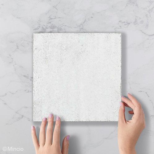 Witte robuuste uni tegels 20x20 wandtegels / vloertegels