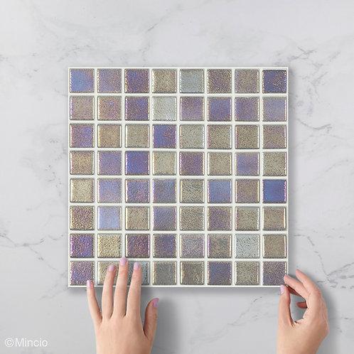 Maan parelmoer glasmozaïek 38 x 38 mm tegels