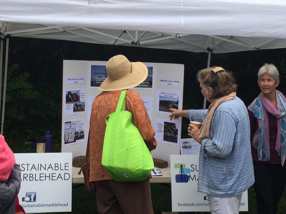Sustainable Marblehead tabled at Marblehead's Farmer's Market