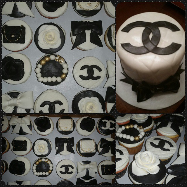 Instagram - Chanel logo cake and cupcakes for the birthday girl @gunsandrosesbou
