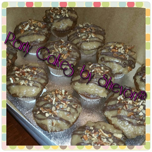 Instagram - German chocolate #cupcakes #partycakesbyshevon #customcakes #designe